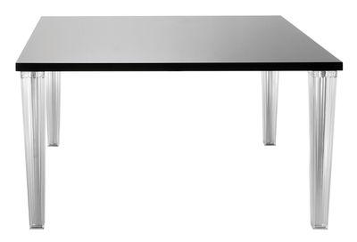 Table Top Top / Laquée - 130 x 130 cm - Kartell noir laqué en matière plastique