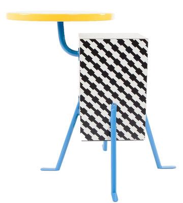 Mobilier - Tables basses - Table d'appoint Kristall by Michele De Lucchi / 1981 - Memphis Milano - Multicolore - Bois laqué, Laminé plastique, Métal laqué