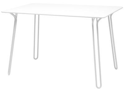 Table rectangulaire Surprising / 120 x 78 cm - Fermob blanc coton en métal