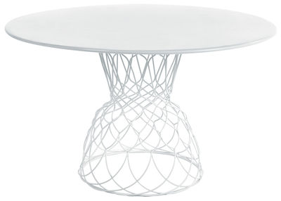 Outdoor - Tables de jardin - Table ronde Re-trouvé / Ø 130 cm - Emu - Blanc - Acier