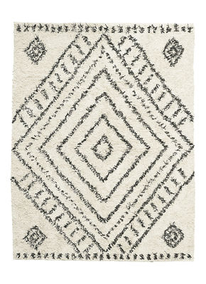 Interni - Tappeti - Tappeto Nubia - / 160 x 210 cm di House Doctor - Bianco / Motivi neri - Cotone