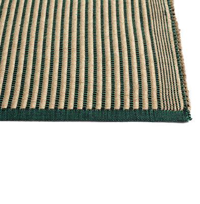 Interni - Tappeti - Tappeto - / 200 x 80 cm - Cotone & juta di Hay - Verde / Nero - Cotone, Iuta