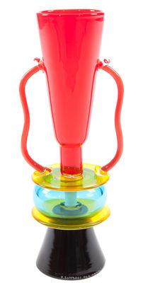 Vase Sirio by Ettore Sottsass / 1982 - Memphis Milano multicolore en verre