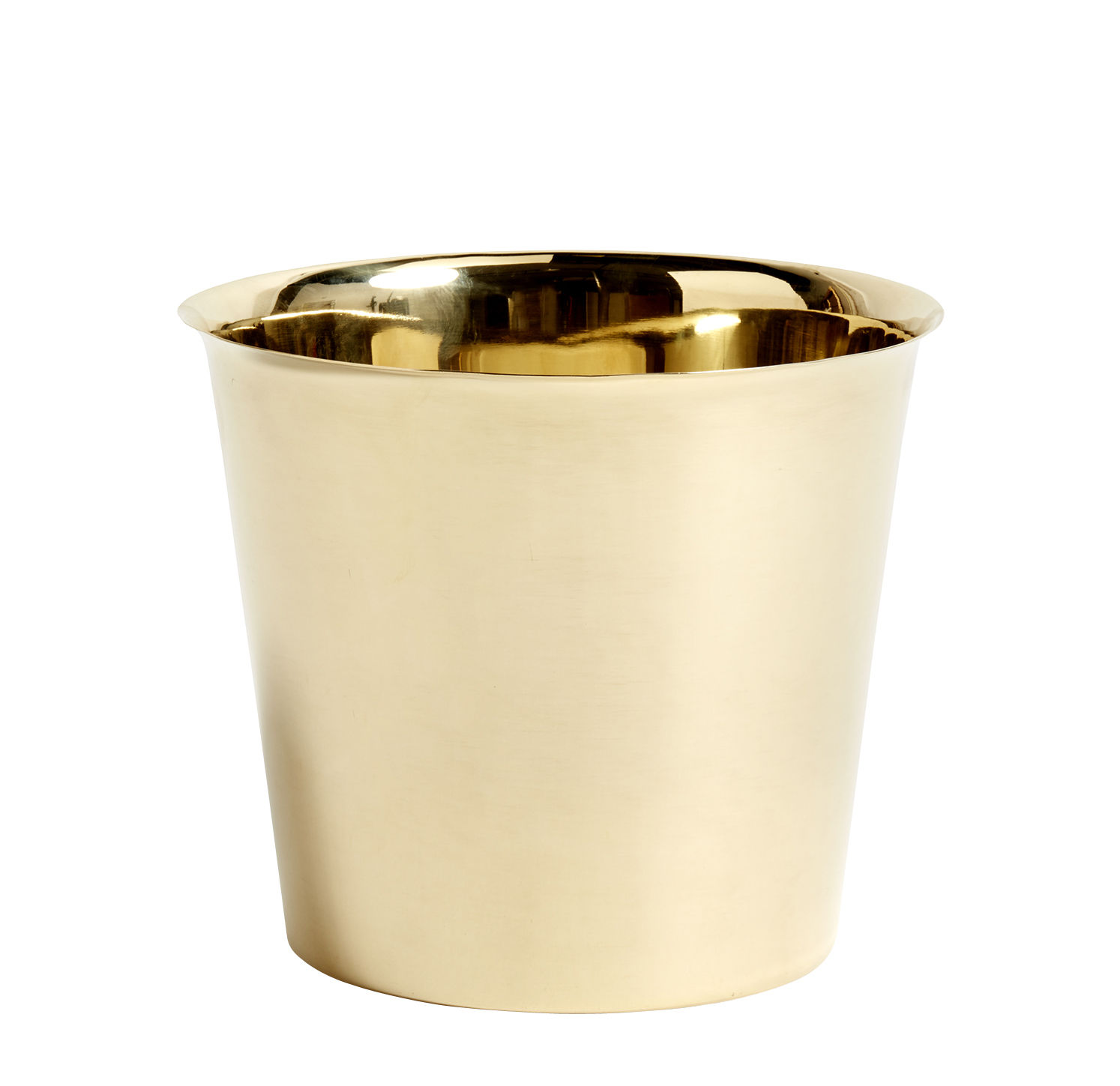 Interni - Vasi e Piante - Vaso per fiori Botanical XL - /Ø22 cm - Ottone di Hay - Vaso / Oro - Ottone