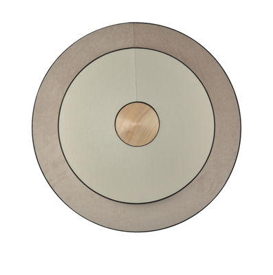 Lighting - Wall Lights - Cymbal LED Wall light - / Large - Ø 70 cm - Fabric by Forestier - Natural - Oak, Velvet, Woven cotton