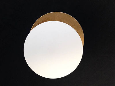 Lighting - Wall Lights - Lederam W Wall light - LED / Ø 17 cm by Catellani & Smith - White / Gold - Gold leaf, Metal