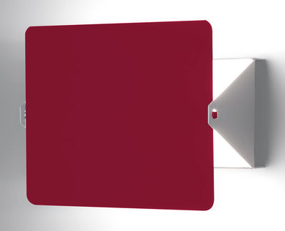 Lighting - Wall Lights - Wall light with plug by Nemo - Blanc / Red swivel volet - Painted aluminium, Painted metal