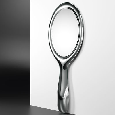 Decoration - Mirrors - Lollipop Wall mirror - / L 90 x H 200 cm by FIAM - Silver - Glass
