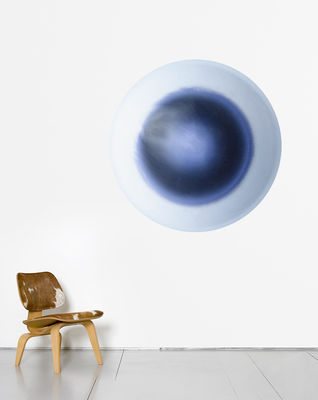 Decoration - Wallpaper & Wall Stickers - Eclipse Wallpaper - Ø 93 cm by Domestic - Blue - Non-woven printed paper