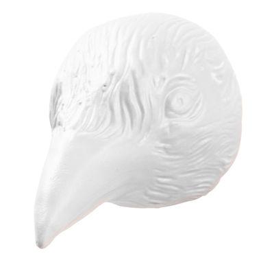 Möbel - Garderoben und Kleiderhaken - Birdy Wandhaken - Domestic - Weiß / Vogel - Keramik