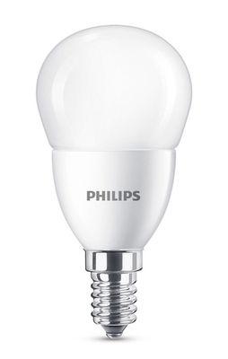 Ampoule LED E14 Sphérique dépolie / 7,5W (60W) - 806 lumen - Philips blanc dépoli en verre