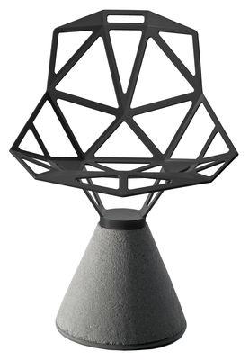 Furniture - Chairs - Chair one B Armchair - Metal & concrete base by Magis - Grey - Cast aluminium, Concrete