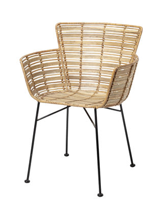 Product selections - Modern nature - Coast Armchair - / Rattan by Bloomingville - Natural rattan - Metal, Rattan