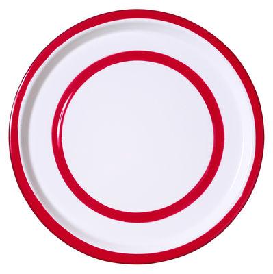 Assiette Basic Medium / Ø 26,5 cm - Variopinte rouge en métal