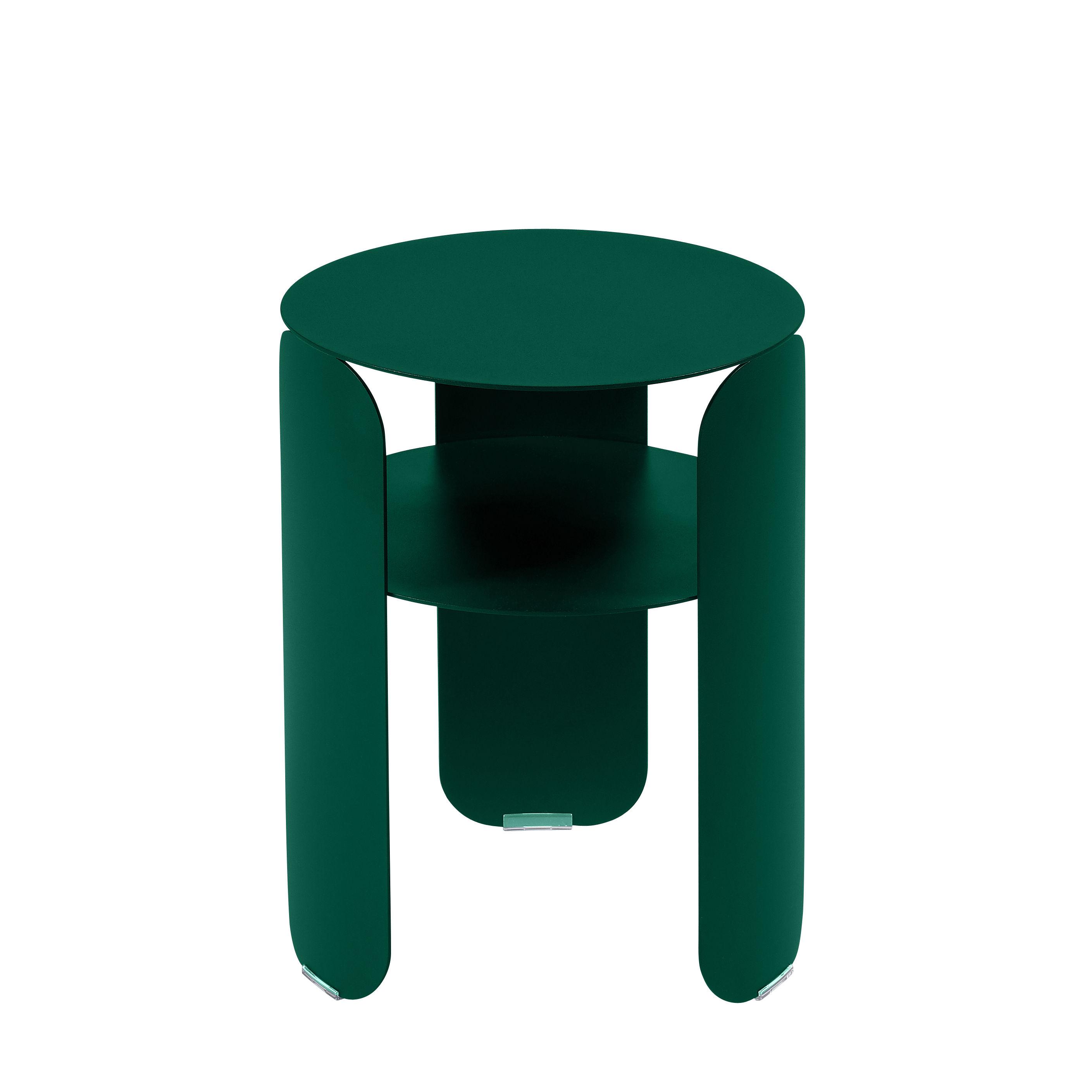 Möbel - Couchtische - Bebop Beistelltisch / Ø 35 x H 45 cm - Fermob - Zederngrün - bemaltes Aluminium