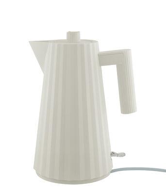 Cuisine - Théières et bouilloires - Bouilloire électrique Plissé / 1,7 L - Alessi - Blanc - Résine thermoplastique