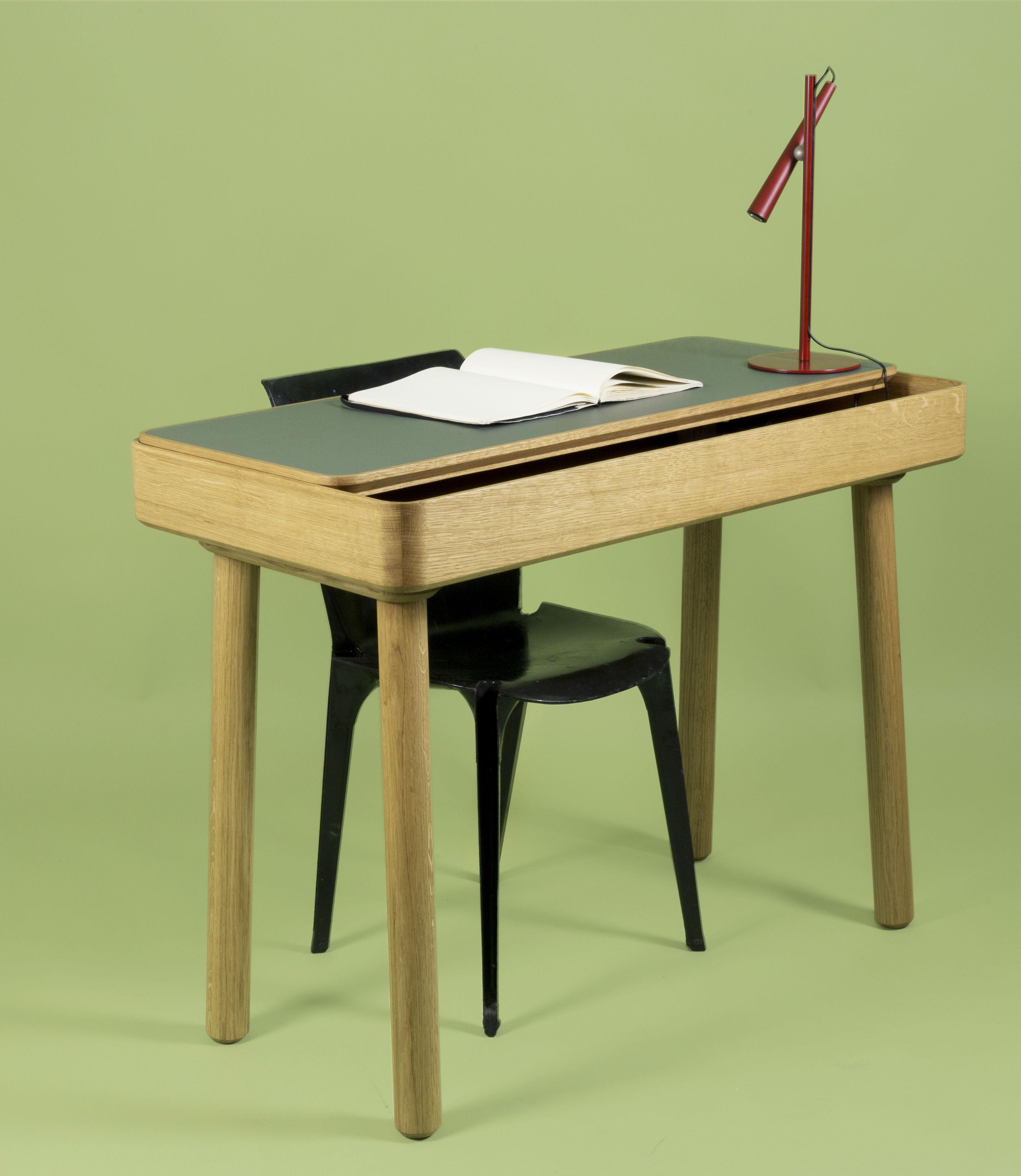 bureau avio internoitaliano linoleum gris ch ne l 100 x h 74 made in design. Black Bedroom Furniture Sets. Home Design Ideas