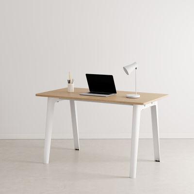 Bureau New Modern / 130 x 70 cm - Chêne éco-certifié - TIPTOE blanc en métal/bois