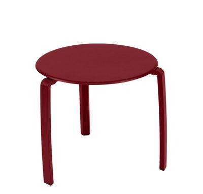 Furniture - Coffee Tables - Alizé Coffee table by Fermob - Chili - Aluminium