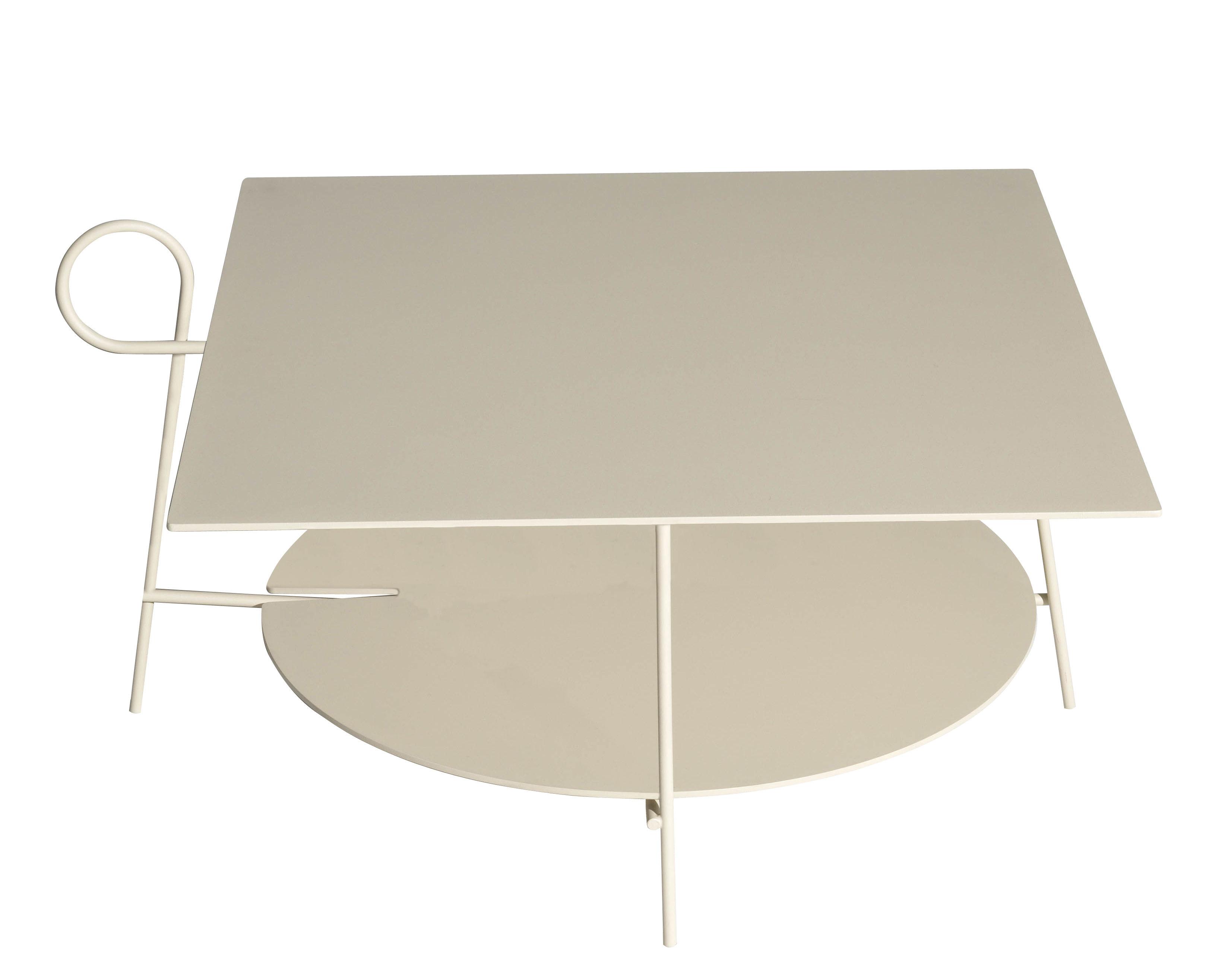 Möbel - Couchtische - Carmina Couchtisch / 70 x 70 x H 43 cm - Driade - Sandfarben - Aluminium époxy, Stahl
