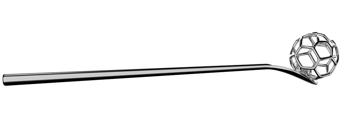 Tavola - Posate - Cucchiaio a miele Acacia di Alessi - Acciaio - Acciaio inossidabile