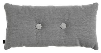 Decoration - Cushions & Poufs - Dot - Steelcut Trio Cushion - / 70 x 36 cm by Hay - Dark grey - Kvadrat fabric