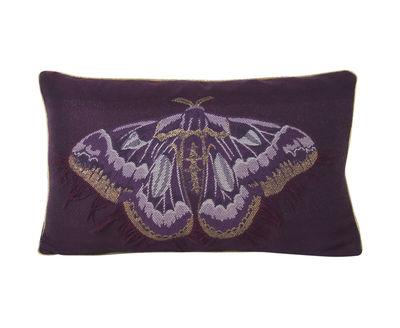 Decoration - Cushions & Poufs - Salon - Papillon Cushion - / 40 x 25 cm by Ferm Living - Purple / Butterfly - Mixed-fibre, Velvet