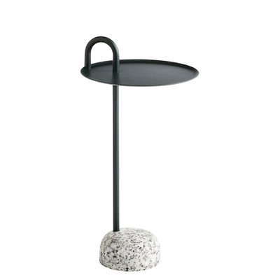 Furniture - Coffee Tables - Bowler End table - / Metal & granite by Hay - Green / Grey granite - Epoxy lacquered steel, Granite