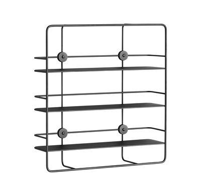 Mobilier - Etagères & bibliothèques - Etagère Coupé / Rectangulaire - Métal - L 53 x H 56 cm - Woud - Noir - Métal laqué époxy