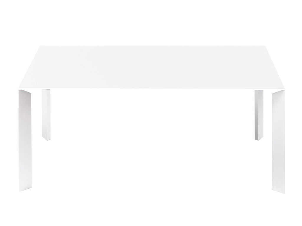 Back to school - Must-have - Nori Extending table - L 166 à 278 cm by Kristalia - White - Anodized aluminium, Stratified laminate