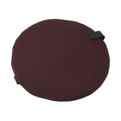 Déco - Coussins - Galette de chaise Color Mix / Ø 40 cm - Fermob - Lie de vin - Mousse, Tissu acrylique
