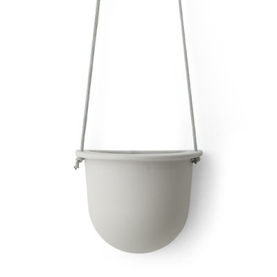 Outdoor - Pots & Plants - Hanging vessel Hanging pot - H 13 cm by Menu - Ash - Ceramic, Polyester