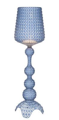 Illuminazione - Lampade da terra - Lampada Kabuki / LED - H 165 cm - Kartell - Blu trasparente - Technopolymère thermoplastique