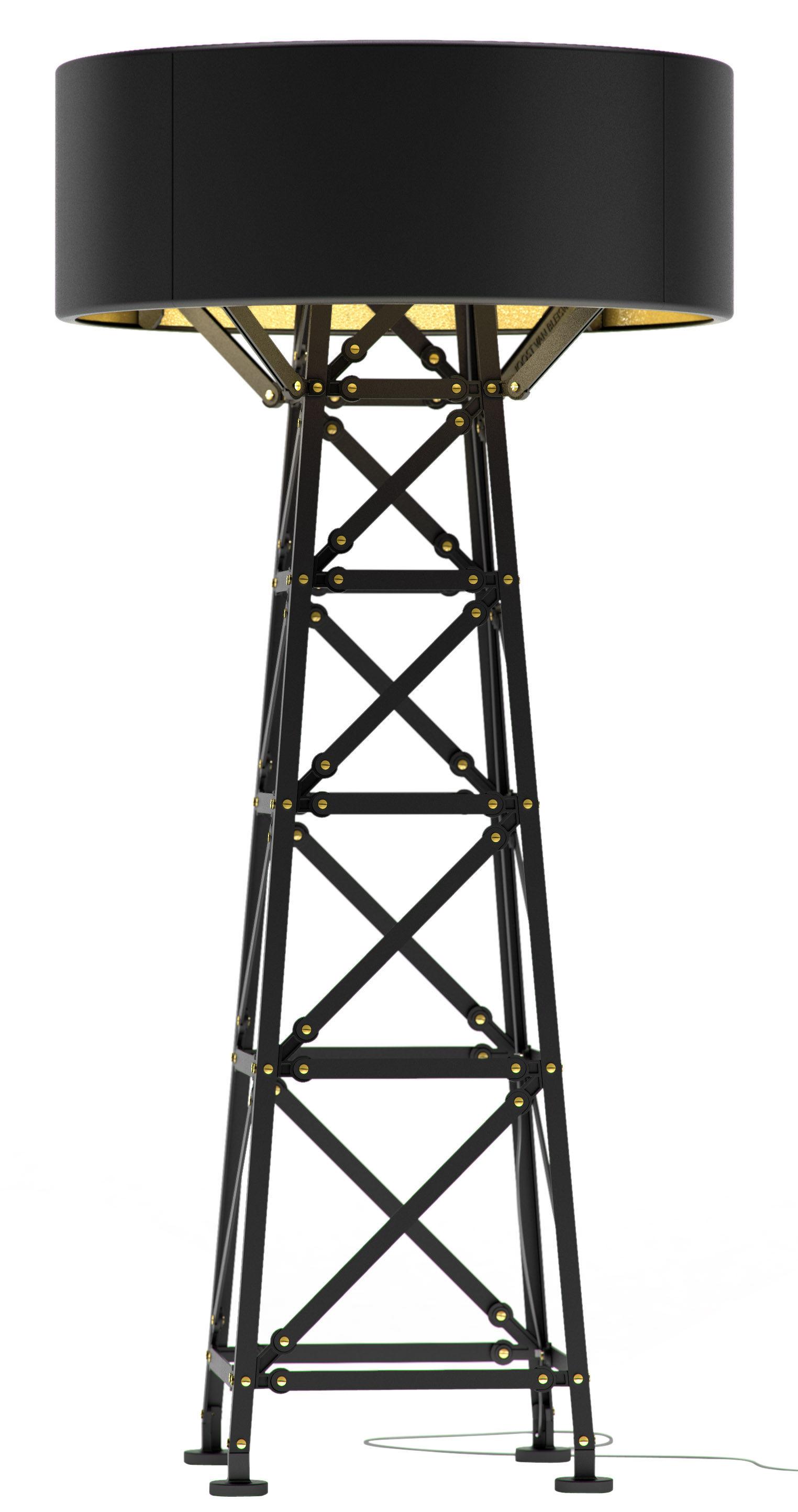 Luminaire - Lampadaires - Lampadaire Construction Lamp Medium / H 139 cm - Moooi - Noir - Aluminium