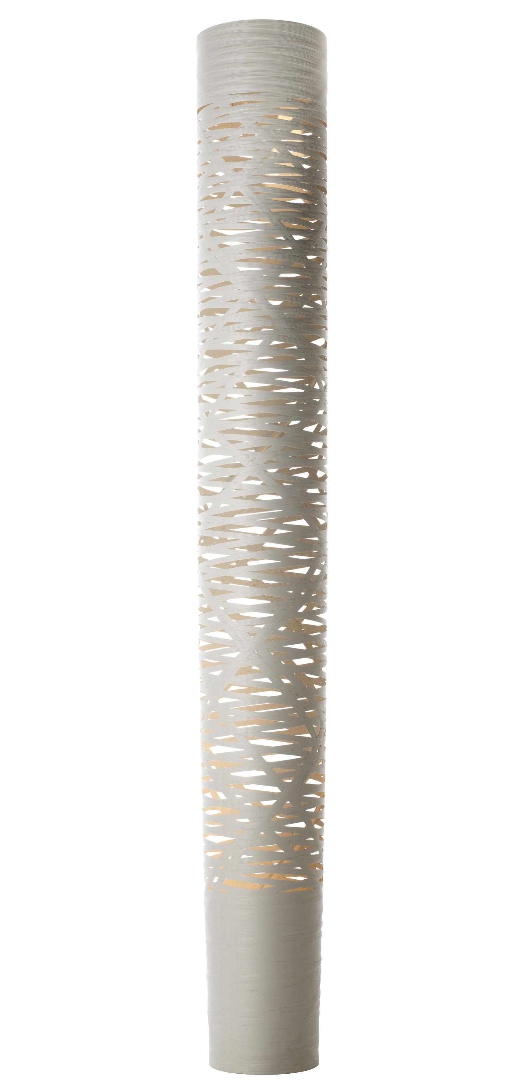 Luminaire - Lampadaires - Lampadaire Tress / H 195 cm - Foscarini - Blanc - Fibre de verre, Matériau composite