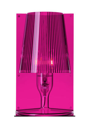 Luminaire - Lampes de table - Lampe de table Take / Polycarbonate 2.0 - Kartell - Rose fuchsia - Polycarbonate 2.0