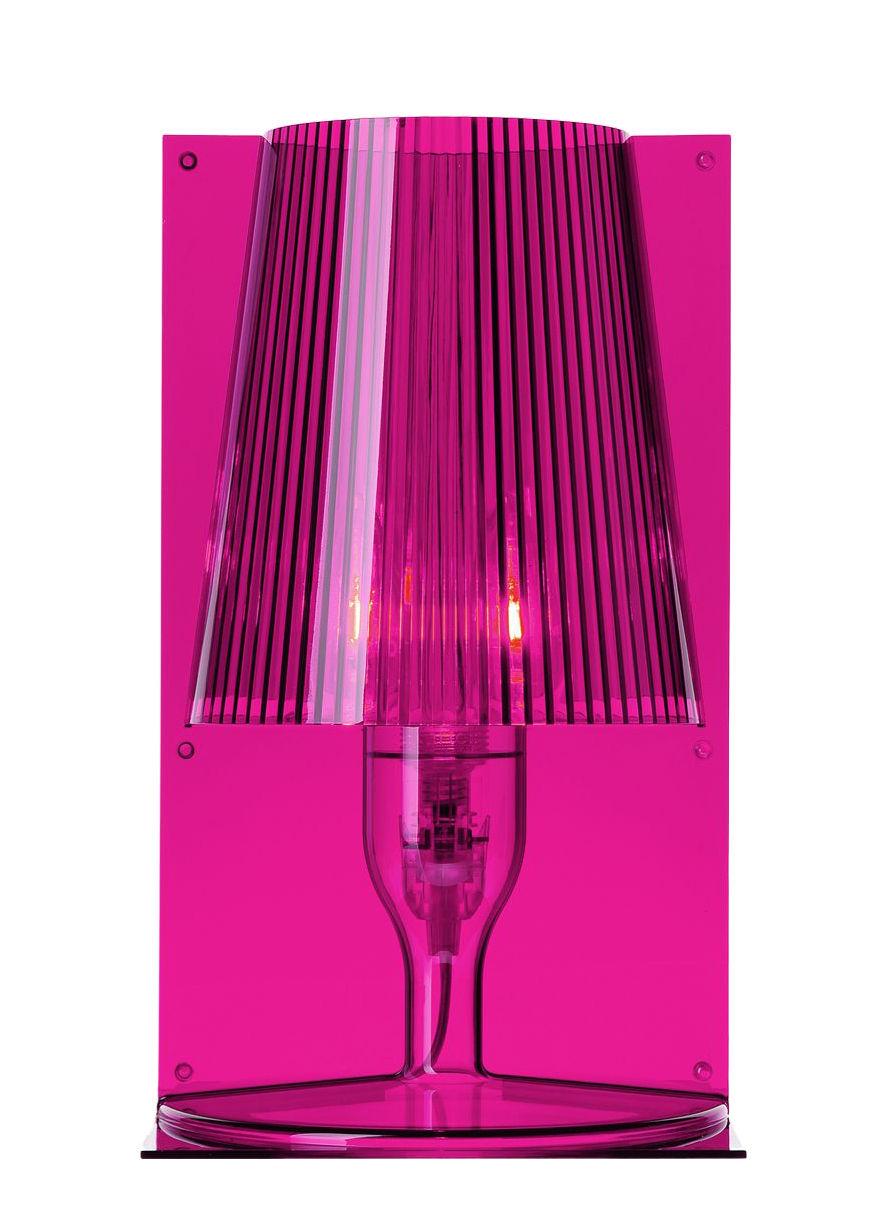Luminaire - Lampes de table - Lampe de table Take - Kartell - Rose fuchsia - Polycarbonate