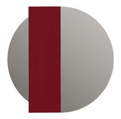 Déco - Miroirs - Miroir mural Charlotte / Edition limitée, numérotée & signée - 20 ans MID - Hartô - Miroir naturel / Bande rose foncé - Chêne peint, Verre