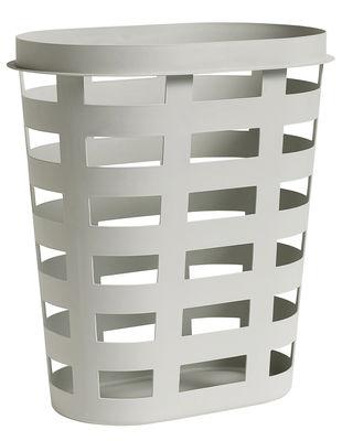 Panier à linge Large / Plastique - 57 x 37 x H 62 cm - Hay gris clair en matière plastique