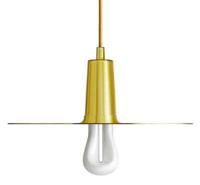 Lighting - Pendant Lighting - Drop Hat Pendant - Brushed brass by Plumen - Brass - Brushed brass finished steel