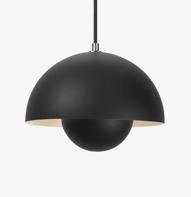 Lighting - Pendant Lighting - FlowerPot VP1 Pendant - Ø 23 cm by &tradition - Black matt - Lacquered aluminium