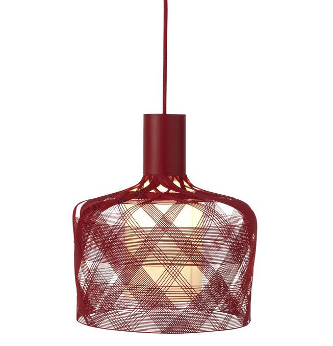 Leuchten - Pendelleuchten - Antenna Pendelleuchte - Ø 33 cm - Forestier - Rot - Metall, Textil