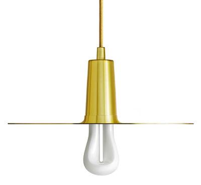 Leuchten - Pendelleuchten - Drop Hat Pendelleuchte / gebürstetes Messing - Plumen - Messing - Messingbeschichteter Stahl, gebürstet