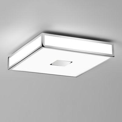 Plafonnier Mashiko Square LED / 40 x 40 cm - Polycarbonate - Astro Lighting blanc,chromé en métal