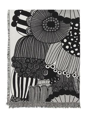 Dossiers - San Valentino - Plaid Siirtolapuutarha - / 130 x 180 cm di Marimekko - Siirtolapuutarha / Grigio & Nero - Cotone