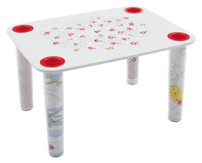 Plateau de table Little Flare modèle Salad - Magis Collection Me Too blanc,rouge en matière plastique