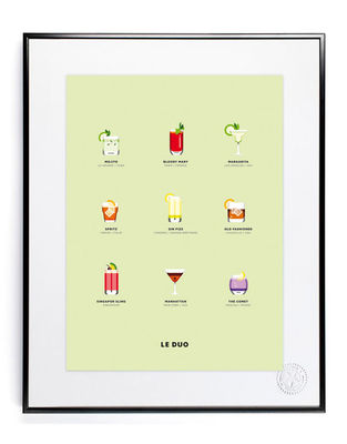 Decoration - Home Accessories - Le Duo - Cocktails Poster - 40 x 50 cm by Image Republic - Cocktails - Paper