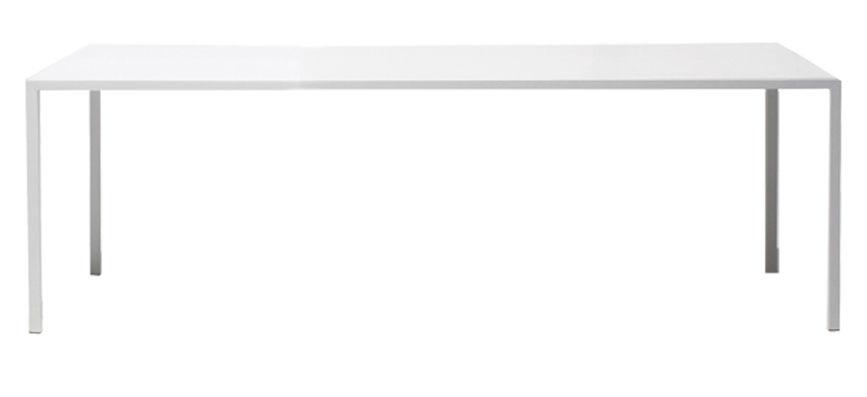 Möbel - Außergewöhnliche Möbel - Tense rechteckiger Tisch 200 x 90 cm - MDF Italia - 200 x 90 cm  - weiß - kunstharzbeschichtetes Aluminium