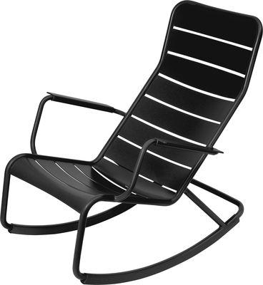 Rocking chair Luxembourg / Aluminium - Fermob réglisse en métal