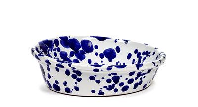Tableware - Bowls - Medium Salad bowl - / Ø 33 cm by Serax - Ø 33 cm / Blue - Enamled terracotta
